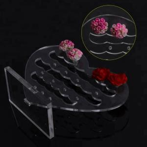 China Acrylic Body Jewelry Display  Transparent Acrylic Countertop Jewelry Earring Displays on sale