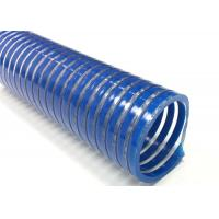 Spiral Reinforced PVC Suction Hose / Water Pump Pool Discharge Hose For Industry