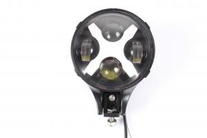 China 6 inch 60W Round LED Auxiliary Light, Work Light X Fog Spot Light DRL Turn Signal Reverse Offroad on sale