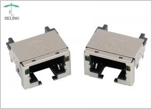 China Overhangs PCB RJ45 Low Profile Connector Right Angle With LED Indicator on sale