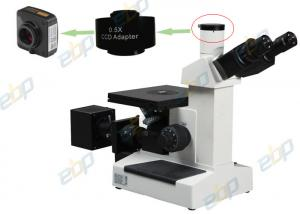 China Metallurgical Trinocular Inverted Microscope 100X - 1000X With 6V20W Halogen Bulb on sale