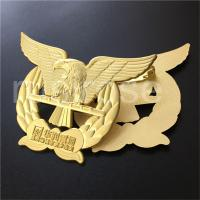 Golden Eagle Badge, Cutout Eagle Flying Badge Customized, Eagle LOGO Badge Brooch Custom