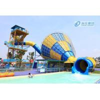 Big Tornado Fiberglass Pool Slides , High Capicity Family Water Slide Games