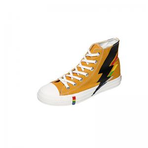 China Rubber Outsole Casual Canvas Sports Shoes Korean Version High Help Design Style on sale