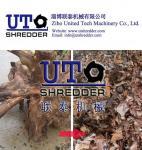 waste wood board /wood box / wood furniture Shredding machine, single shaft shredder