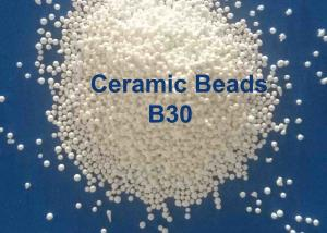 China Zero Ferrous Contamination B20-B505 Ceramic Beads Blasting Media  , B40 / B120 / B205 Abrasive Bead Blasting Ball on sale