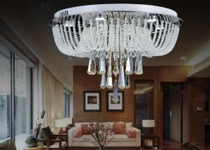 China White Modern Luxury Crystal Ceiling Lights / Glass Ceiling Lighting Fixtures Chandeliers on sale