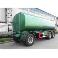 42000 Oil Tank Trailer / Fuel Tanker Semi Trailer With 4 Inch Manhole Cover