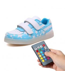 China Trainer Simulation Led Shoes , Remote Control Girls Light Up Sneakers on sale