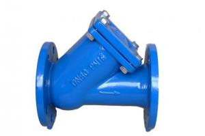 China GGG50 DIN Standard Water Y Type Strainer Cast Flanged End Ductile Iron  PN16 on sale