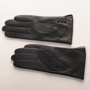China High quality women fashion leather gloves with real sheepskin leather gloves on sale