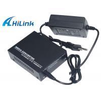 Optic Fiber 10M 100M 20KM Media Converter Single Mode AC220V External Power