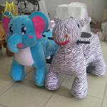 Hansel latest coin operated electric ride on plush elephant toy