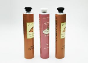 China 50-100ML Aluminium Collapsible Tubes , Hand Cream Tube With Octagonal Cap on sale