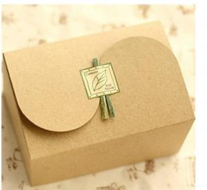 China Plain Brown Kraft Paper Box For Gift Packaging , Customized Printing on sale