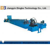 Metal Shelf Storage Rack Roll Forming Machine Manual Adjustment The Size