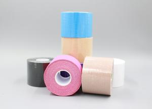 China Custom Printed Medical Glue Pre Cut Kinesiology Tape Colored Athletic Tape on sale