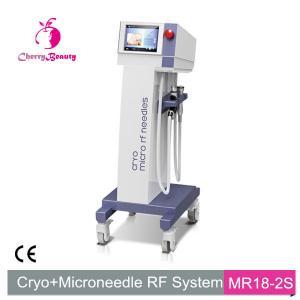 China cryo micro rf needles skin tag removal pore minization acne scar reduction MRF SRF machine on sale