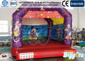 China Mickey Mouse Inflatable Castle Bouncer , Colorful Durable Inflatable Moonwalks on sale