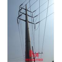 132 KV DC Steel Tubular Poles