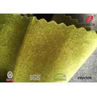 Italy Ks Warp Knit Polyester Velvet Fabric Velvet Clothing Material 150-230gsm Density