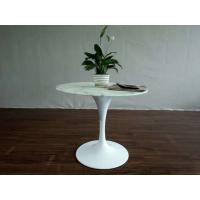China Replica Modern Furniture Fiberglass Coffee Table / White Tulip Table on sale