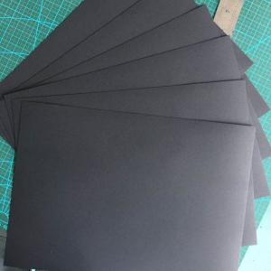China Lignin Free 787*1092mm Weight 600g Black Coated Paper For Cloth Tag on sale
