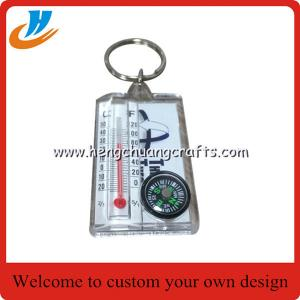 China Wholesale Plastic keychain/compass keychain/new design key chain cheap price custom no mold fee key rings on sale