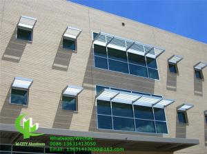 China awning sunshade solar shading Fixed sun louver Architectural Aerofoil profile aluminum louver  for window sunshade on sale