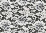 Cordón cepillado estirable, tela de nylon CY-LQ0003 de la flor blanca de Spandex del rayón