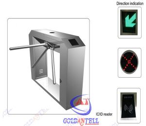 China Access Control tripod access system , turnstile entrance With Fingerprint Barcode Reader on sale