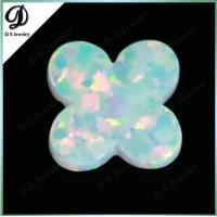 China White Color Snow Flower Shape Lab Created Opal Jewelry on sale