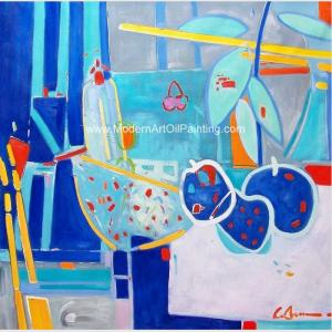 China Abstract Still Life Oil Painting , Contemporary Fruit Oil Painting For Home Decoration on sale