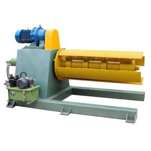 China Uncoiling Galvanized Steel Sheet Coil Hydraulic Decoiler 380V / 220V Voltage on sale