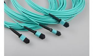 Quality MM OM3 MPO繊維のパッチ・コード多重モード24Core MPOの光ファイバーのジャンパー for sale
