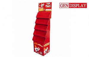 China Professional Drink Cardboard Display Stands With 5 Paper Trays on sale