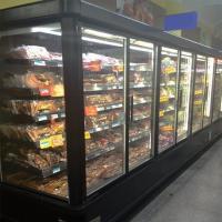 Frozen Food Commercial Glass Door Refrigerator -20°C 5 Layers For Supermarket