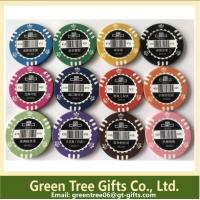 China Different Colors& Design 11.5g Dice Poker Chip/ 14g Clay Poker Chip on sale