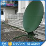 2.4m c/ku band dual reflectors TxRx manual portable parabolic satellite dish antenna