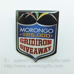 China Epoxy Offset Print steel Lapel pins, custom offset print pin badge with epoxy coat on sale