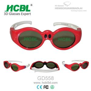 China Universal Rechargeable Children 3D Active Glasses Red / Kid 3D Eyewear on sale