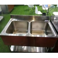 Deep Commercial Catering Stainless Steel Kitchen double Sink bowls