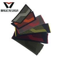 Men casual textile vamp flip flops outdoor comfort knit flat slipper upper