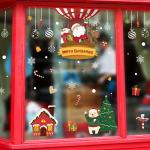 Room Decoration Christmas Wall Art Stickers , Pvc Wall Sticker Non - Toxic