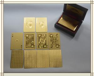 China 24k gold plated playing cards set in box poker deck 99.9% gold gift fathers day on sale