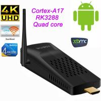 RK3288 Lan TV Strick RJ45 XBMC 4K Android Smart TV Box Mini PC Dongle with Bluetooth , Wifi