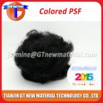 Black Color Polyester Staple Fiber, Recycled Grade PSF for Nonwoven / Spinning Yarn 1.5D-15D
