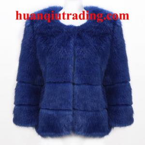 China Wholesale Lux 2013 designer winter fox/rabbit hair long furry fashion warm soft lady coat on sale