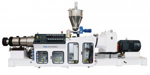 China High Plasticization PVC Conical Twin Screw Extruder on sale