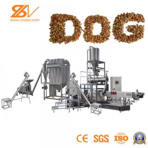 China Wet / Dry Dog Pet Food Extruder Machine Double Screw SGS Certification on sale
